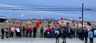 balloon release line of friends