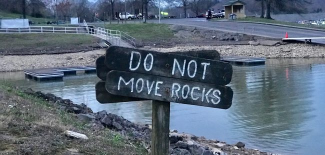 do not move rocks