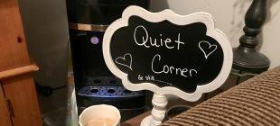 quiet corner sign
