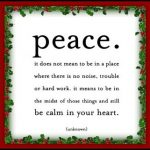 The Formula for Peace……
