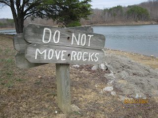 Do Not Move Rocks………
