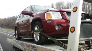 a car on tow truck